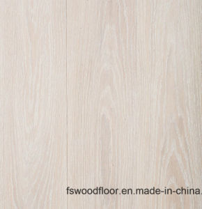 American White Washed Limed Brushed Oak Engineeered Flooring pictures & photos