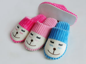 Warm Ladies Cute Indoor Nice Soft Winter Slipper  with Embroider pictures & photos