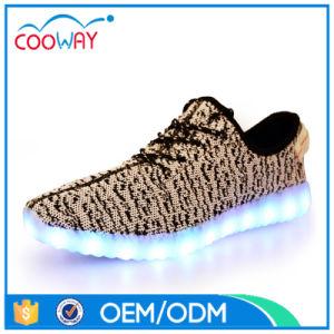 Hot-Sale LED Shoes Flyknit Light up Men′s Disco Shoes