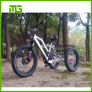 Fat Tire 3 Wheel Electric Bike with Front Suspention pictures & photos