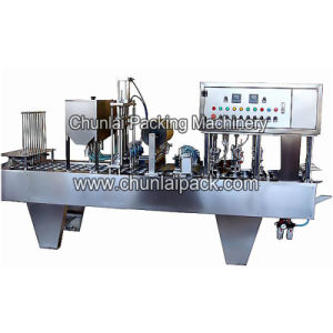 Auto Cup Olive Filling Sealing Machine pictures & photos