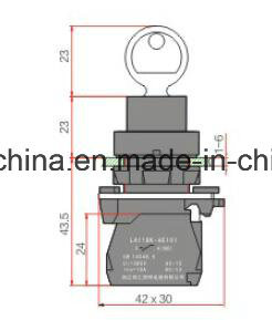 22mm Pushbutton Switch with Keylock pictures & photos