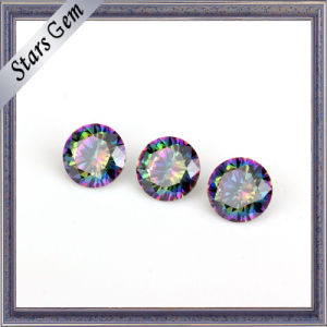 New Fashion Round Colorful Electroplate Zirconia for Jewelry pictures & photos