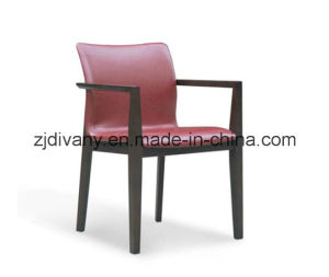 American Style Home Furniture Dining Room Leather Wooden Armchair (C-49) pictures & photos
