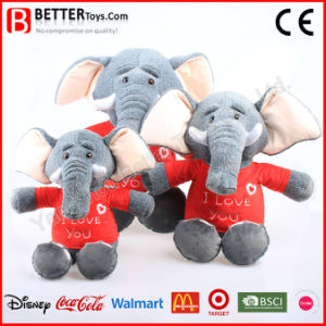 Realistic Stuffed Animals Soft Toy Elephant Wearing Cloth pictures & photos