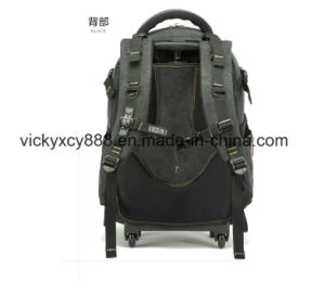 Canvas Breathable Business Travel Wheels Trolley Computer Backpack Bag (CY3678) pictures & photos
