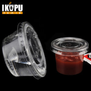 Disposable Sauce Cup Testing Cups with Lid 1oz 2oz 3oz pictures & photos