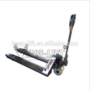 Stainless Steel Manual Hydraulic Pallet Truck pictures & photos