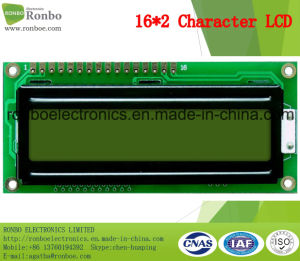 16X2 Stn Character LCD Display, MCU 8bit, Y-G Backlight, COB LCD Screen pictures & photos