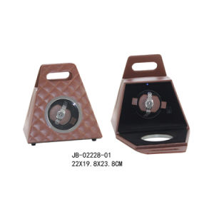 Elegant Portable Display Box Gift Show Case Rotating Watch Winder pictures & photos