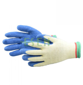 2017 Safety 10g Hands Protective Work String Knitted Latex Gloves pictures & photos