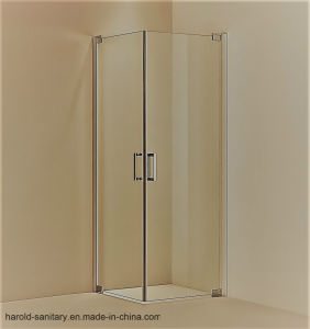 Hr-011-2D 180 Degree Swing Double Swing Shower Screen No Fix Panel pictures & photos