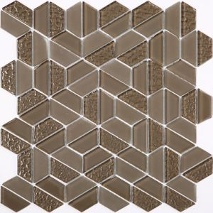 Building Material Hexagon and Diamond Shape American Style Glass Mosaic pictures & photos