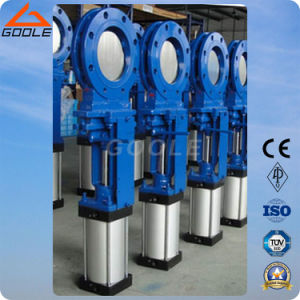 Pneumatic Wafer Type Slurry Knife Gate Valve (PZ673X) pictures & photos