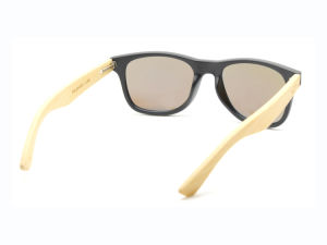 Best Selling PC Frame Bamboo Temples Arms Laser Logo Bamboo Sunglasses pictures & photos