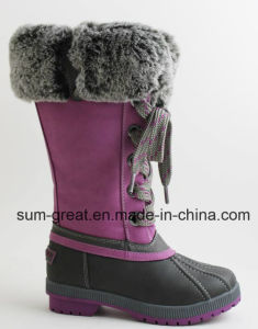 Waterproof Women′s Boot with Cemented Outsole