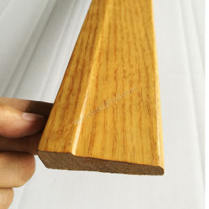 MDF Wrapped Oak Veneer Skirting Board pictures & photos