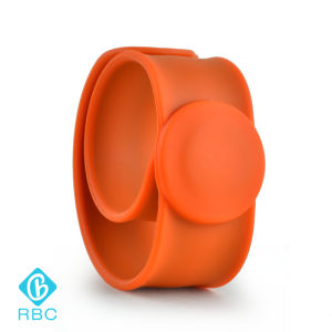 Whosale Durable Logo Printable RFID Silicone Slap Bracelet Flexible Wristbands