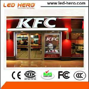 High Definition Indoor P5-6.67mm Indoor Transparent LED Screen Banner pictures & photos