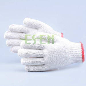 Hot Sale White Cotton Gloves with High Quality for Construction pictures & photos