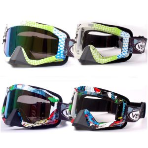 Motocross Ski Goggles/Snow Goggles with Colorful Lens (AG006) pictures & photos