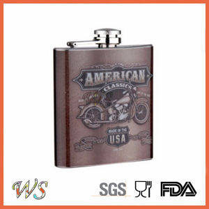 DSC_0051 6oz Stainless Steel Hip Flask Whole Color Printing pictures & photos