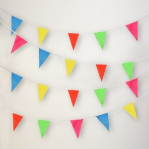 Wholesale Various Custom Logo Event Display Pennant Triangle Bunting Flags pictures & photos