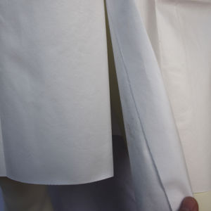 Disposable Microporous Lab Coat with Double Collar, Waterproof Lab Coat pictures & photos