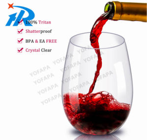 Sessile Red Wine Cup, Drinking Cup No Foot Red Plastic Glass