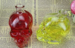 400ml Clear Skull Wine Bottle, Skull Juice Bottle, Skull Beer Bottle with Cork Lid pictures & photos