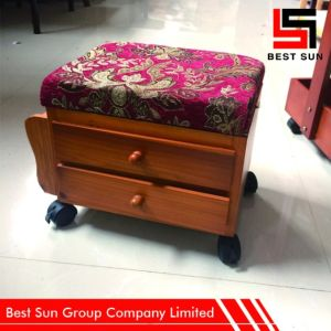 Mobile Square Storage Ottoman with Drawers pictures & photos