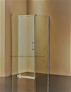 Hr-P051 Square Framed Pivot Hinge Open Shower Enclosure pictures & photos