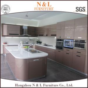 N & L 2017 Modern Kitchen Furniture Wood Veneer Kitchen Cabinet pictures & photos