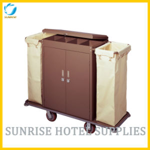Hot Selling Hotel Room Housekeeping Cart Service Trolley pictures & photos