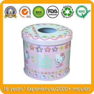 Round Tin Box for Tissue Box, Metal Gift Box pictures & photos