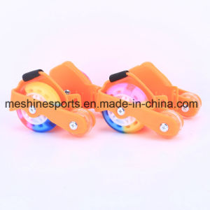 New Arrival Adjustable Flashing Roller Heel Skates with Colored PU Wheels pictures & photos