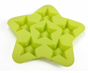 Promotional Star Shape Silicone Ice Cube Tray/Cube Shape Silicone Ice Molds pictures & photos