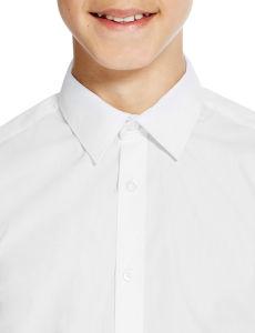 Slim Fit Senior Boys′ Non-Iron Long Sleeve Shirts School Uniform pictures & photos