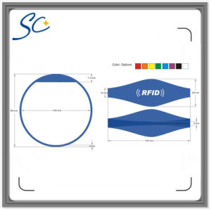 RFID Wristband 125kHz Em4100 ID Silicone Proximity Smart Bracelet pictures & photos