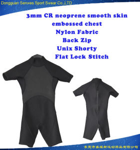 3mm Neoprene Super Stretch Soft Shorty Surfingsuit for Children pictures & photos