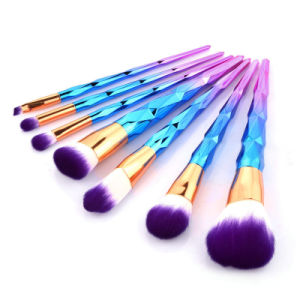 New Pattern 7 Makeup Brush Set Colorful Makeup Brush Gradient Color Conical Cosmetic Brush pictures & photos