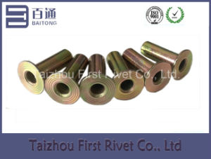 8X22mm Zinc Plated Flat Head Full Tubular Steel Rivet pictures & photos