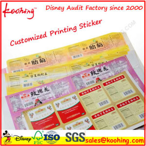 OEM Printing Serial Number Barcode/ Adhesive Label Sticker pictures & photos