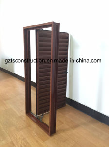 Customized Aluminum Casement Shutter Window with Fixed Blade pictures & photos