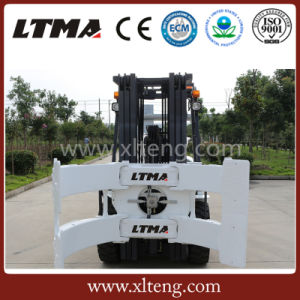Ltma 3 Ton Diesel Forklift with Paper Roll Clamp pictures & photos