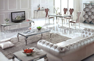 Simple Design White Marble Dining Table pictures & photos