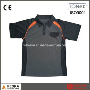 Mens Polyester Elastane Orange Work Polo Shirt pictures & photos