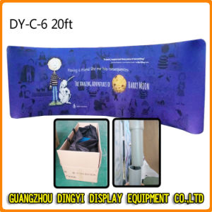 20FT Curvy Tension Fabric Pop up Display for Exhibition (DY-C-6) pictures & photos