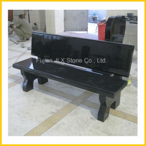 Black Granite Stone Garden Bench Outdoor Furniture pictures & photos