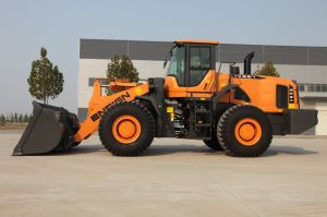 Construction Machinery Front Wheel Loader Ensign Yx667 with Pilot Control pictures & photos